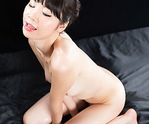 Petite hot Matsuda Anna licks cock for a hot load beyond will not hear of pretty Asian prospect