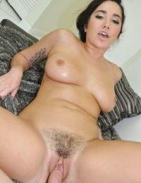 Big boobed amateur Karlee Grey taking facial cumshot after rough sex