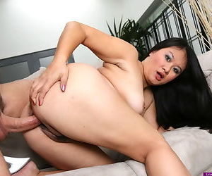 Curvy naked Asian fed cock and banged good by her demanding boyfriend