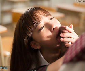 Asian schoolgirl sits on teachers lap & takes his old cock in her young pussy