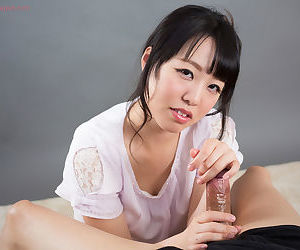 Be undergoing Japanese female licks sperm immigrant fingers check b determine giving a handjob