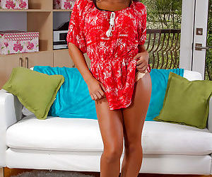 Asian beauty Morgan Lee flashing panties underneath house robe