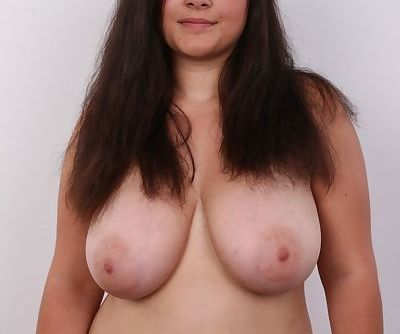 Overweight brunette Lucie undresses to fulfill dreams of becoming a nude model