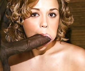 Pornstar Paige Turner is being hardcore fucked by the black cock