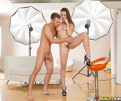 After showing her beaver to cameraman Dani Daniels is ready for some fucking