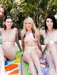 Poolside summer celebration turns into a hot pussy licking cock riding party