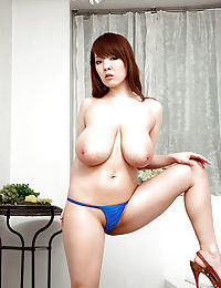 Hitomi Japanese with giant milk cans bare soapy porn take part in on web camera