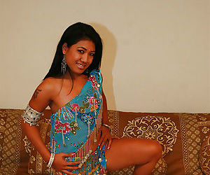 Naughty indian chick Raj Laxmi uncovering her fuckable body