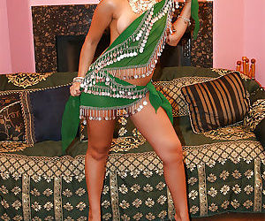 Stunning indian babe on high heels stripping and spreading her legs