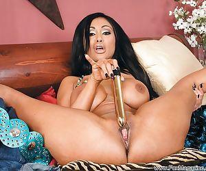 Gorgeous indian MILF Priya Rai taking off her panties and toying her cunt