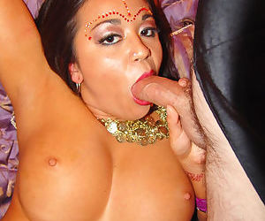 Big boobed Indian drips cums from vagina after MMMF groupsex
