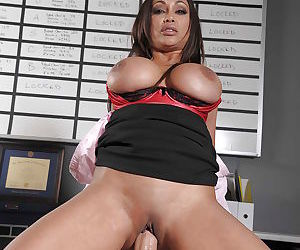 Horny indian MILF with big jugs Priya Anjali Rai gets fucked in the office