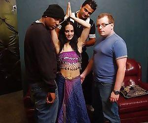 Indian slut Vanita Sakala has some hardcore fun with three guys