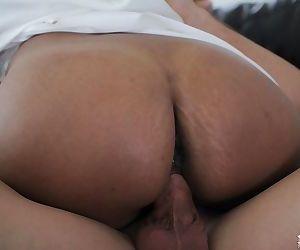 Busty Indian MILF Priya Rai blows cock before hardcore fucking and cumshot