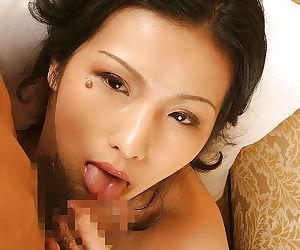Ravishing asian deuce Chinami Sakaisaki gives head coupled with gets slammed