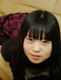 Vivacious Japanese schoolgirl Rio Takei getting rid of her clad