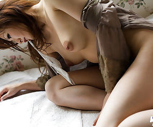 Sweet asian babe with perky tits Emi Harukaze slipping off her clothes