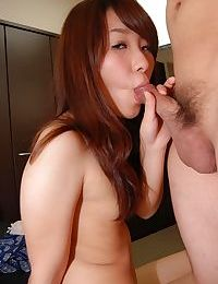 Slutty oriental young with miniscule apples Aiko Kondo gives head and receives bonked