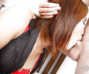 Horny young Asian shemale Nance getting her tight buttocks analized