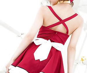Slim asian teen babe Misa Kikouden slipping off her clothes