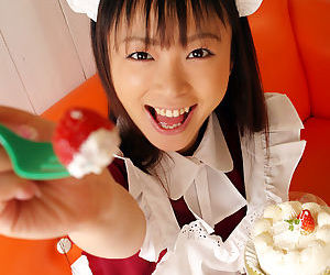 Teenage asian Freulein with tiny tits Emiru Momose declension retire from her uniform