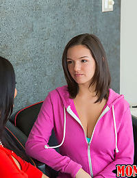 Mom Ava Addams and teen Shae Summers are taking off their clothes