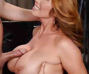 Busty Asian mom Kiana Diro deepthroating and tit fucking a cock