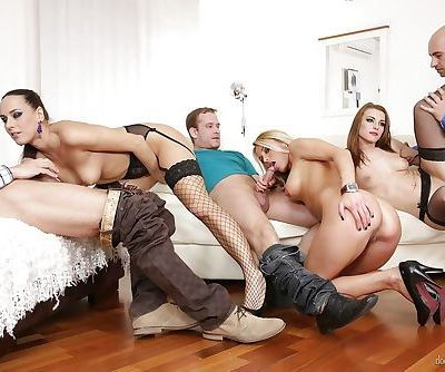 Crazy groupsex fucking with Mea Melone- Victoria Daniels and Laura Crystal
