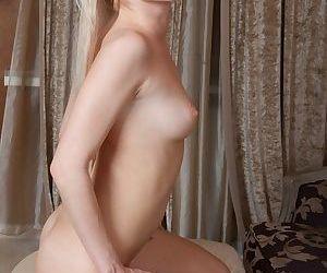Nourishment mart starlet near long legs Janelle B poses sensually