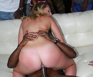 Dominant wife Brooke Wylde fucks big black dicks before her cuckolded hubby