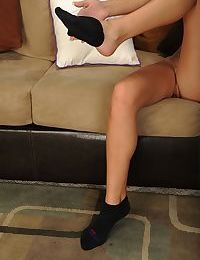 Amateur blonde teen Hollie Mack making her nude modelling debut
