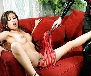 Tempting lesbians Aradia & Kina Kai exploring BDSM pleasures