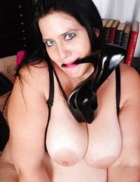 SSBBW scene features big tits mature brunette with huge ass Becki