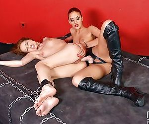 Wicked lezdom sex starring naughty dykes Sophie Lynx and Aylin Diamond