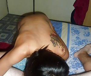 Skinny asian babe with tiny tits gets her shaved slit bonked hardcore