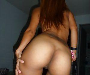 Slutty asian babe stripping off her underwear and gets slammed hardcore