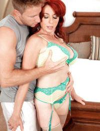 Redhead super MILF Karen Kougar amazing hard sex in anal mode