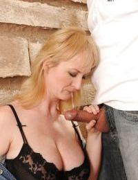 Mature miss enjoys sucking a big dick and fucking hardcore