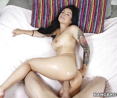 Pornstar Katrina Jade takes hardcore POV styled cumshot in mouth