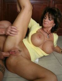 Mature Deauxma with big tits sucking a cock and gets hardcore fucked
