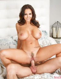 Mature wife with big boobies Ava Addams fucks in her hairy muff