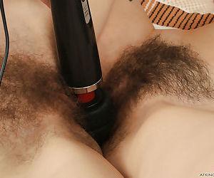 Older European lesbians Anni Bay and Iris masturbating hairy vaginas