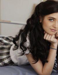 Sweet teenage cutie Zoey Kush slipping off her school uniform