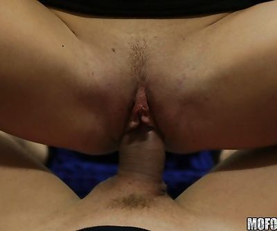 Euro chick Cristal Caitlin deepthroats cock during hardcore fuck session