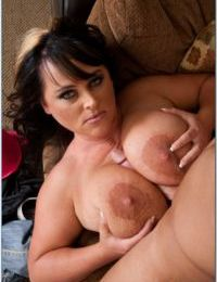 Plump mature Indianna Jaymes fucks a cock with her juggs and hot pussy