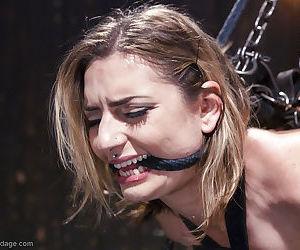 Cute blonde Missy Minks taking forced masturbation of shaved vagina
