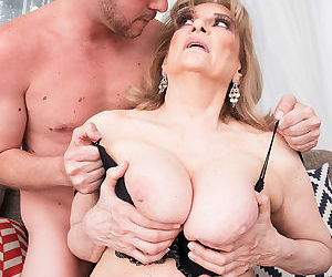 Horny old granny is never too old to get some young bigcock in her old snatch