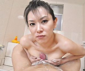 Horny asian MILF Mika Asano gets fucked and takes a cumshot beyond everything the brush face