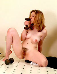 Hairy pussy amateur slut in black Ashley showing her pretty body