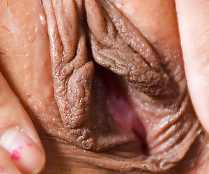 Asian first timer Kandy removing lingerie before masturbating shaved vagina